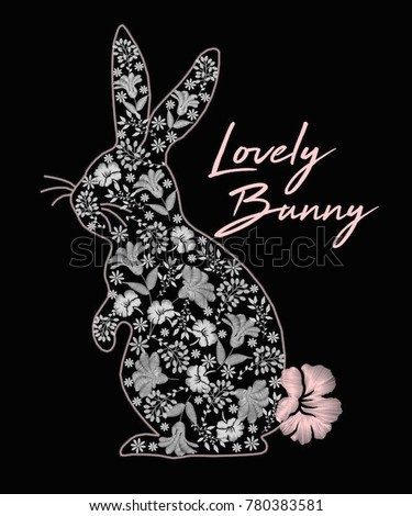 lovely bunny graphic