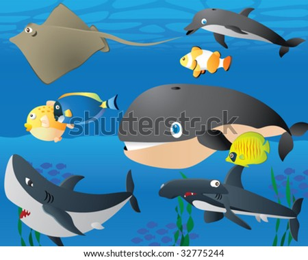 Sea Life Logo. Sea Life Background