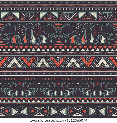 lovely contrasty tribal pattern