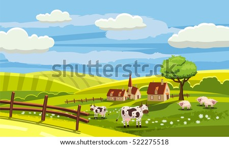 lovely countryside  farm