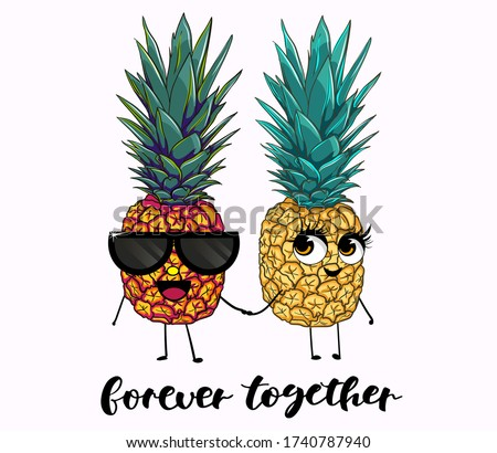 lovely couple of pineapples