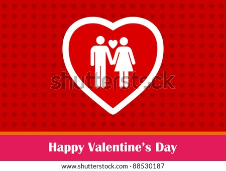 Lovely Couple Sign Valentine's Day Greeting (EPS10 Vector)