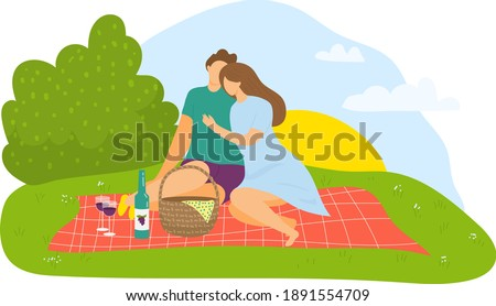 lovely couple sitting outdoor