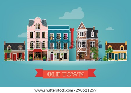 lovely detailed vector old town