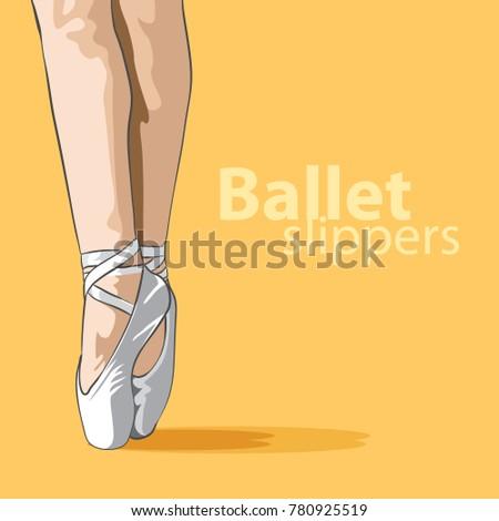 lovely female legs in ballet