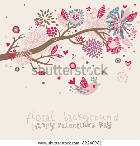 Lovely floral background