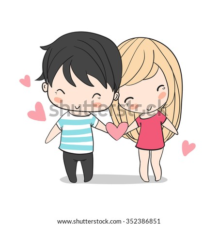 lovely girl and boy valentine