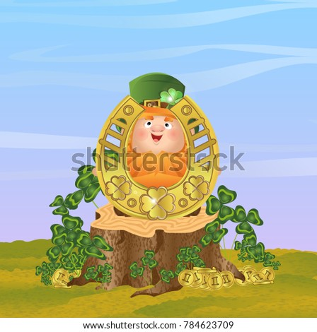 lovely leprechaun in a green