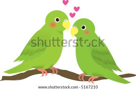lovely lovebird vector