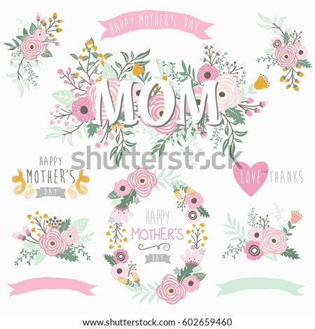 Lovely Mother's Day Element