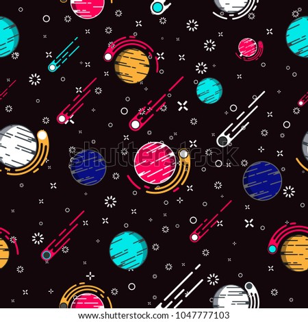 lovely outer space planets