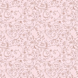 lovely pink floral seamless pattern in vector