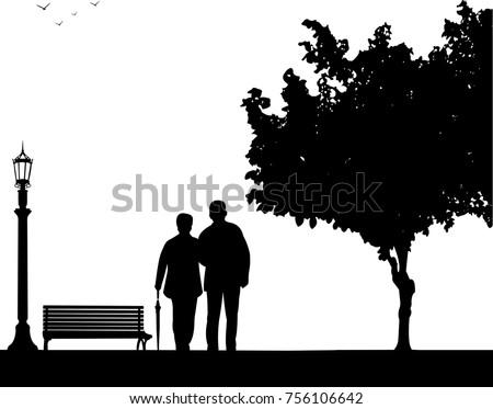 lovely retired elderly couple