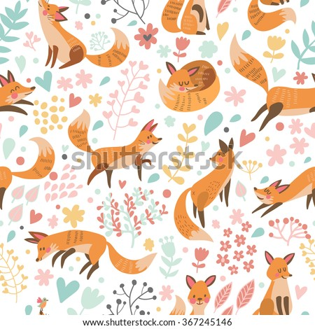 lovely seamless pattern with