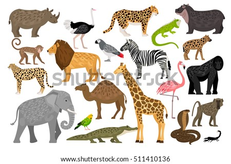 lovely set of african animals