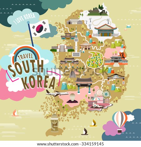 lovely south korea travel map