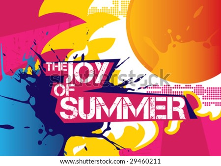 Lovely summer poster. Vector illustration.