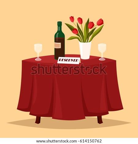 lovely table in the restaurant