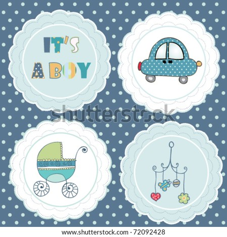 lovely tag set for baby boy