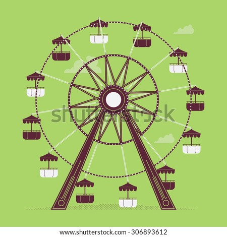 lovely vector ferris wheel old