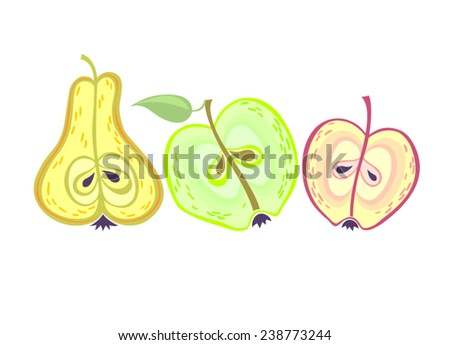 lovely vector fruits apples