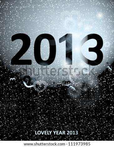 LOVELY YEAR 2013 / Happy new year card #111973985