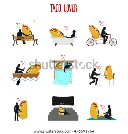 lover taco set love to mexican