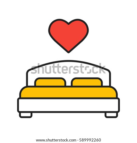 lovers bed color icon double