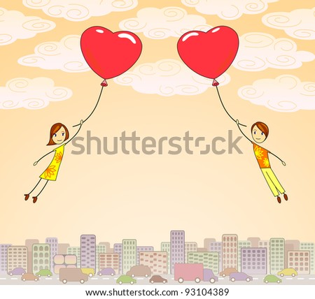 lovers fly to each other