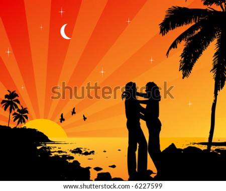 Lovers in the sunset