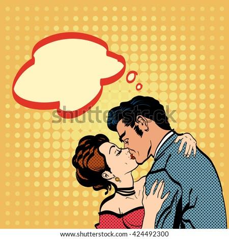 lovers kissing man kisses woman