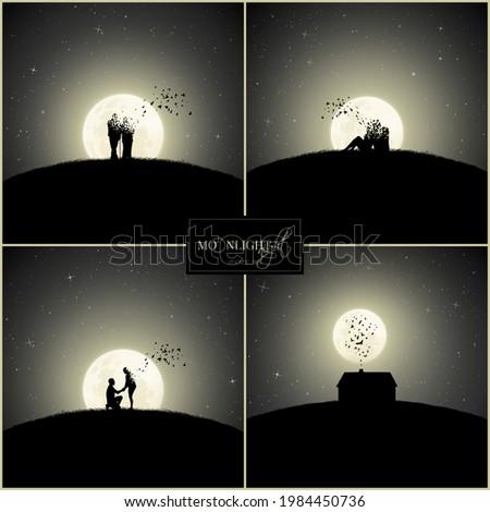 lovers on moonlight night