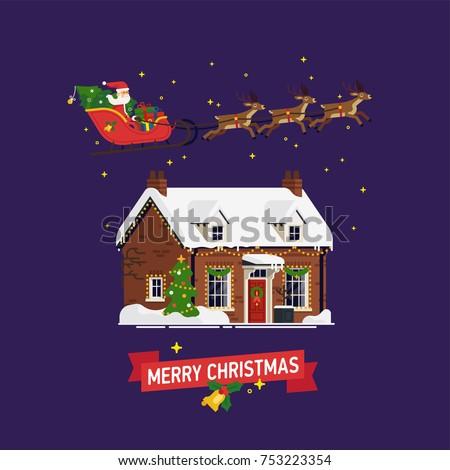 lovey christmas themed vector