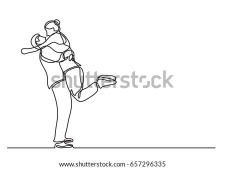 loving couple hugging   single