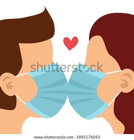 loving couple kissing in