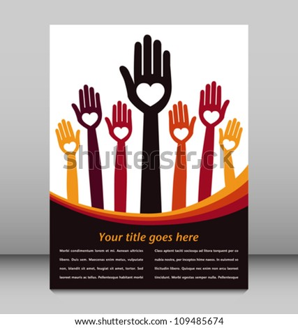 Loving hand design with copy space vector.