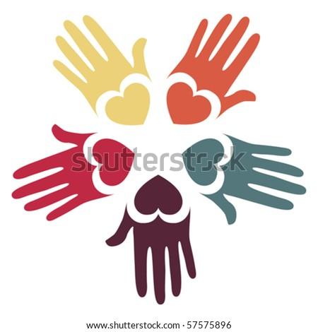 Loving hands design.