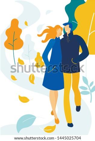 loving happy couple in warm
