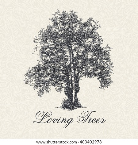 loving trees poster with hand