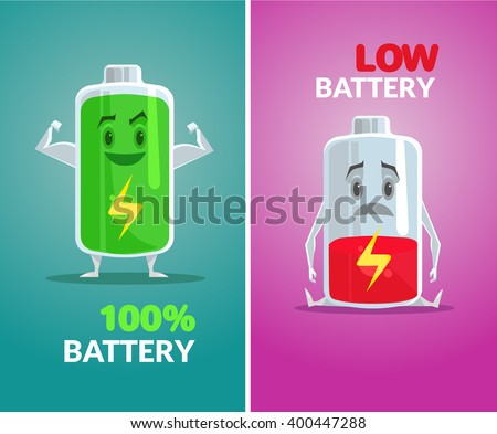 low battery and full battery