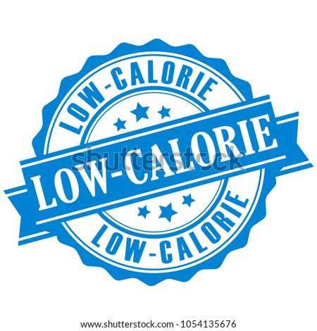 Low calorie vector badge isolated on white background