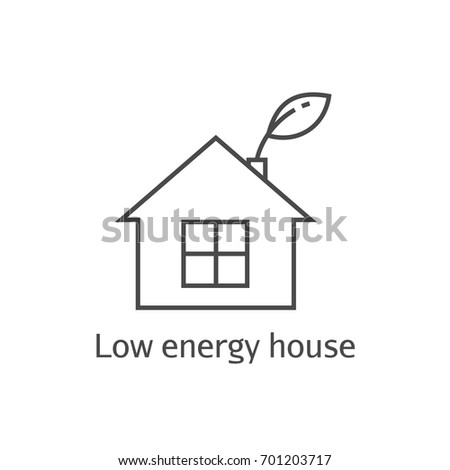 low energy house thin line icon