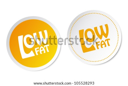 Low fat stickers