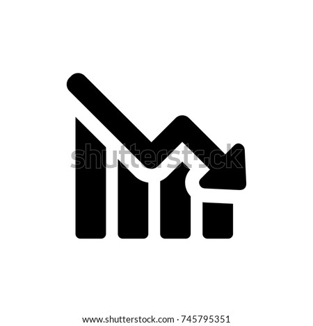 Low Graph icon, Low Graph icon vector, in trendy flat style isolated on white background. Low Graph icon image, Low Graph icon illustration