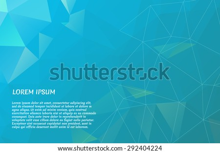 Low poly abstract background. Vector illustration.