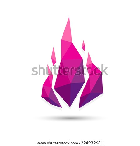 low poly abstract fire triangle