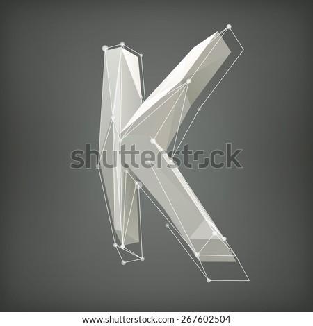 low poly alphabet vector