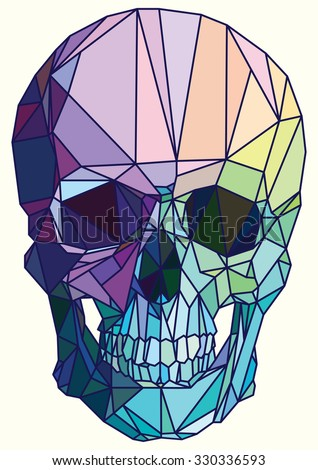 low poly colorful geometric
