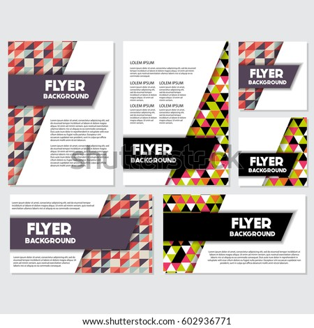 Low Poly Flyer style background Design Template,Vector Illustration #602936771