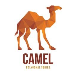 LOW POLY LOGO ICON SYMBOL TRIANGLE CAMEL POLYGONAL GEOMETRIC